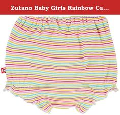 Zutano Baby Girls Rainbow Candy Stripe Bloomer, Multi, 6 Months. Completely adorable, our new bloomers are an update to our classic diaper covers. They are made to be worn under dresses when the weather heats up, and they feature a cute ruffle edge around the leg openings. These bloomers will dress up a shirt or dress while protecting baby's diaper and adding a bit of flare to her outfit.
