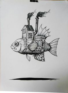 ISLA DEL COCO, JORGE CAMPOS ARTE, TINTA CHINA, PLUMILLA, DIBUJO Art And Illustration, Illustrations And Posters, Animal Sketches, Art Sketches, Art Drawings, Muster Tattoos, Desenho Tattoo, Pen Art, Art Plastique