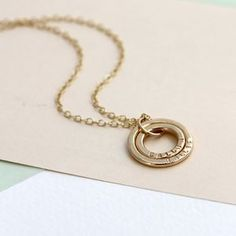 Personalised 9ct Gold Baby Names Necklace