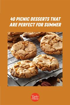 It's officially picnic season! And no summer spread is complete without a sweet treat at the end, so we've rounded up the most portable picnic desserts to pack in your basket. Picnic Desserts, Picnic Recipes, Picnic Foods, Summer Desserts, Summer Recipes, Dessert Recipes, Potluck Salad, Summer Picnic, Outdoor Dining