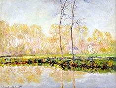 Claude Monet The banks of the river Epte at Giverny 1887