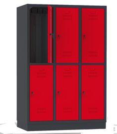 Czerwona szafa dzielona Fitness - http://www.bakpol.pl/produkt/su40032-szafa-szkolna-szafa-ubraniowa-szafa-fitness