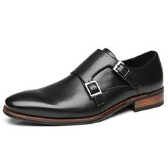 92a1b88e9bb Faranzi Mens Double Monk Strap Oxford Buckle Slip-on Loafer Comfortable  Classic Formal Business Dress