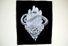Crystal Snake Black Sew On Backpatch by FennecDesignCo on Etsy, $6.00