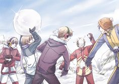 Hetalia - Iceland, Finland, Norway, Denmark, and Sweden : Snow War