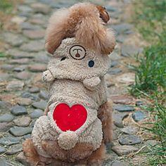 Koira Asut Hupparit Koiran vaatteet Sievä Cosplay Karhu Harmaa Ruskea Asu Lemmikit – EUR € 18.54