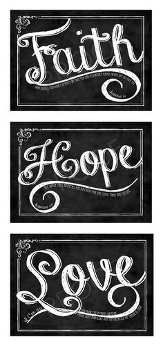 ChalkTypography Prints  set of three  by ToSuchAsTheseDesigns, $45.00