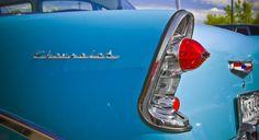 Chevy Fin     #classic #retro #fin #blue #car #chrome #light