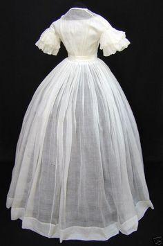 Back of the white sheer dress I made