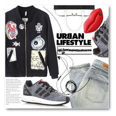 """Urban Lifestyle"" by stylemoi-offical ❤ liked on Polyvore featuring Denham, adidas, Molami, STELLA McCARTNEY and stylemoi"