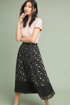 5532d88ae2 Anthropologie Celestial Midi Skirt - $128 #theradicalblog Cute Skirts, Midi  Skirts, Midi Dresses