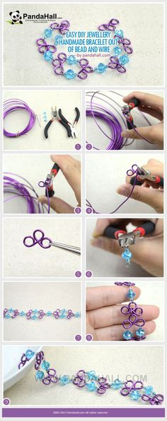 Turn ordinary jewelry wire into a one-of-a-kind DIY jewellery handmade bracelet. All techniques required are detailed and shown in this tutorial and can be practiced with great ease.