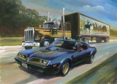 Smokey and The Bandit painting