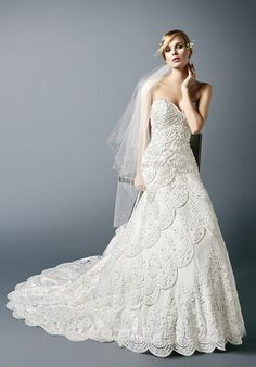 Enchanting Open Back Wedding Dress | Val Stefani McKenna | http://trib.al/p3AHjRg