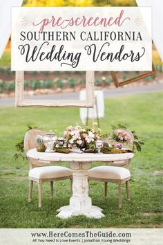 Find Pre Screened Wedding Vendors For Your Southern California On HereComesTheGuide