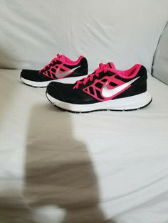 1a2cfc4d0847 Nike Downshifter 6 Running Shoes Size 4Y Youth Girls Pink   Black  685167-001
