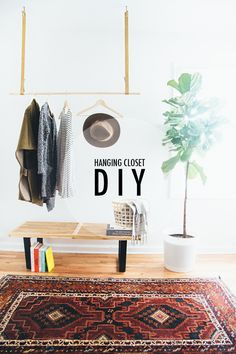 Hanging Closet DIY // Paige Jones