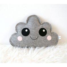 Knuffel Wolk DIY grijs