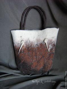 Купить Большая красивая войлочная сумка. Эко-стиль. - аксессуары, стильный аксессуар, сумка