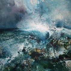 Wonderful Art from Stewart Edmondson Painting outside is definitely the place for me to be. I simply feel alive out there…up on the moor or down by the sea. The energy of the place is what sparks in me. Working outside - the painting often has to be. Seascape Paintings, Art Paintings, Landscape Artwork, Encaustic Art, Sea Art, Kandinsky, Abstract Art, Fine Art, Illustration