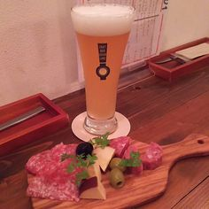 大山地ビールとサラミ生ハムチーズのセット #craftbeer #beer