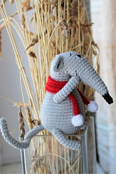 Crochet Animal Patterns, Crochet Patterns Amigurumi, Crochet Dolls, Crochet Stitches, Handmade Ideas, Handmade Toys, Etsy Handmade, Jute Crafts, Knitted Cat