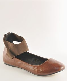 Look at this #zulilyfind! Brown Oriana 88 Flat #zulilyfinds