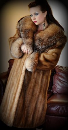 SOLD OUT Russian Princess Brown Genuine Mink by vintageveronique