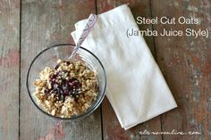 I have always really liked eating oatmeal for breakfast. I like those little instant packets, quick cooking oats, old fashioned rolled oats, but my absolute favorite is Steel Cut Oats. Steel Cut ...