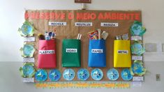 Recycling For Kids, Earth Day Crafts, Save Our Earth, Green School, Teaching Aids, Reduce Reuse, Recycled Crafts, Global Warming, School Projects