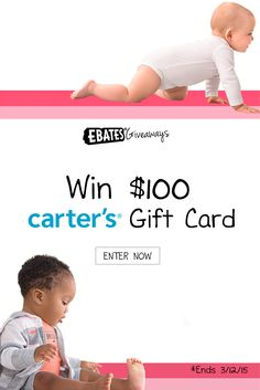 Enter to #win $100 @Carters gift card on the @Ebates blog. #Giveaway #Contest http://gvwy.io/mq1homi