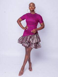 Short African Dresses, African Print Dresses, African Fashion Dresses, Short Dresses, African Tops, African Lace, African Style, Black Girl Fashion, Style Fashion