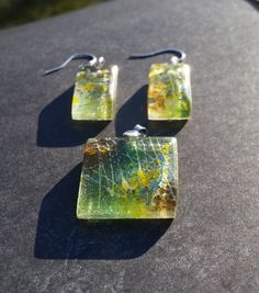 Fused Glass Set by GlassFusionsByKerry on Etsy