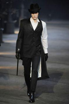 Alexander McQueen Mens  Autumn/Winter 2009-10...It's like the male Cruella Deville!
