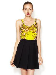 Floral Print Knit Top  Jean #Eyewear #LingerieWomen #Shirts