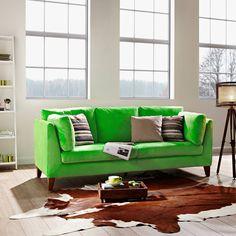 GREEN DAY kanapé zöld 211x88x89cm Green Day, Living Room Green, Living Room Sofa, Bastille, Butler, Sofas, Couch, Design, Furniture