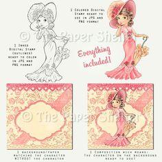 The Lady - Digital Stamp