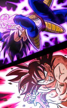 Goku vs vegeta By: Akabeco Goku Vs Frieza, Goku E Vegeta, Dragon Ball Gt, Geeks, Grimgar, Ball Drawing, Dark Fantasy, Fantasy Art, Warrior Angel