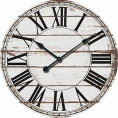 Large Wall Clock Rustic Modern Home Decor Wood Distressed Farmhouse Oversized Rustic Wall Clocks, Farmhouse Wall Clocks, Wooden Clock, Rustic Wall Decor, Rustic Walls, Rustic Wood, Farmhouse Decor, Rustic Modern, Rustic Style