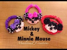 Rainbow Loom Mickey and Minnie Mouse Bracelets