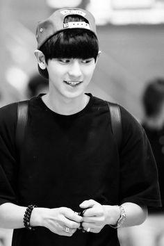 EXO | Chanyeol | Black & White | Smile