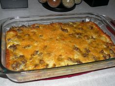 Brunch casserole - crescent rolls, sausage, egg, and cheese