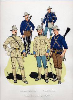 US Infantry circa The Spanish-American War (1898).