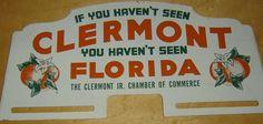 Clermont Florida Florida Vacation Spots, Vacation Ideas, Florida License Plates, Clermont Florida, Kids Growing Up, Florida Living, Vintage Florida, Sunshine State, Central Florida