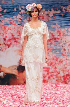 Idea for lace short short + bolero over simple dress, Claire Pettibone