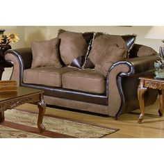 Have to have it. Chelsea 2700-L-BM Loveseat - Bulldozer Mocha/Bi-cast Chocolate $699.99