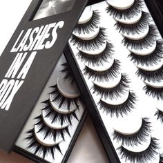 Official LASHES IN A BOX Website - Handcrafted, Cruelty-Free, Professional false lashes containing 10 pairs of lashes. Faux Lashes, Long Lashes, False Eyelashes, Applying False Lashes, Applying Eye Makeup, Cute Makeup, Makeup Geek, Makeup Stuff, Lash Room