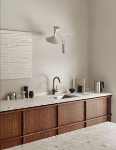 A minimal kitchen in oak and terrazzo - september edit Home Interior, Modern Interior Design, Kitchen Interior, Design Interiors, Contemporary Interior, Terrazzo, Home Decor Kitchen, Diy Home Decor, Kitchen Rustic