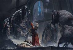 Vikingos, gigantes y deidades ilustradas de Adrian Smith