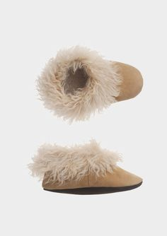 Toast Alpaca Shearling Slippers in Brown (pale natural) | Lyst